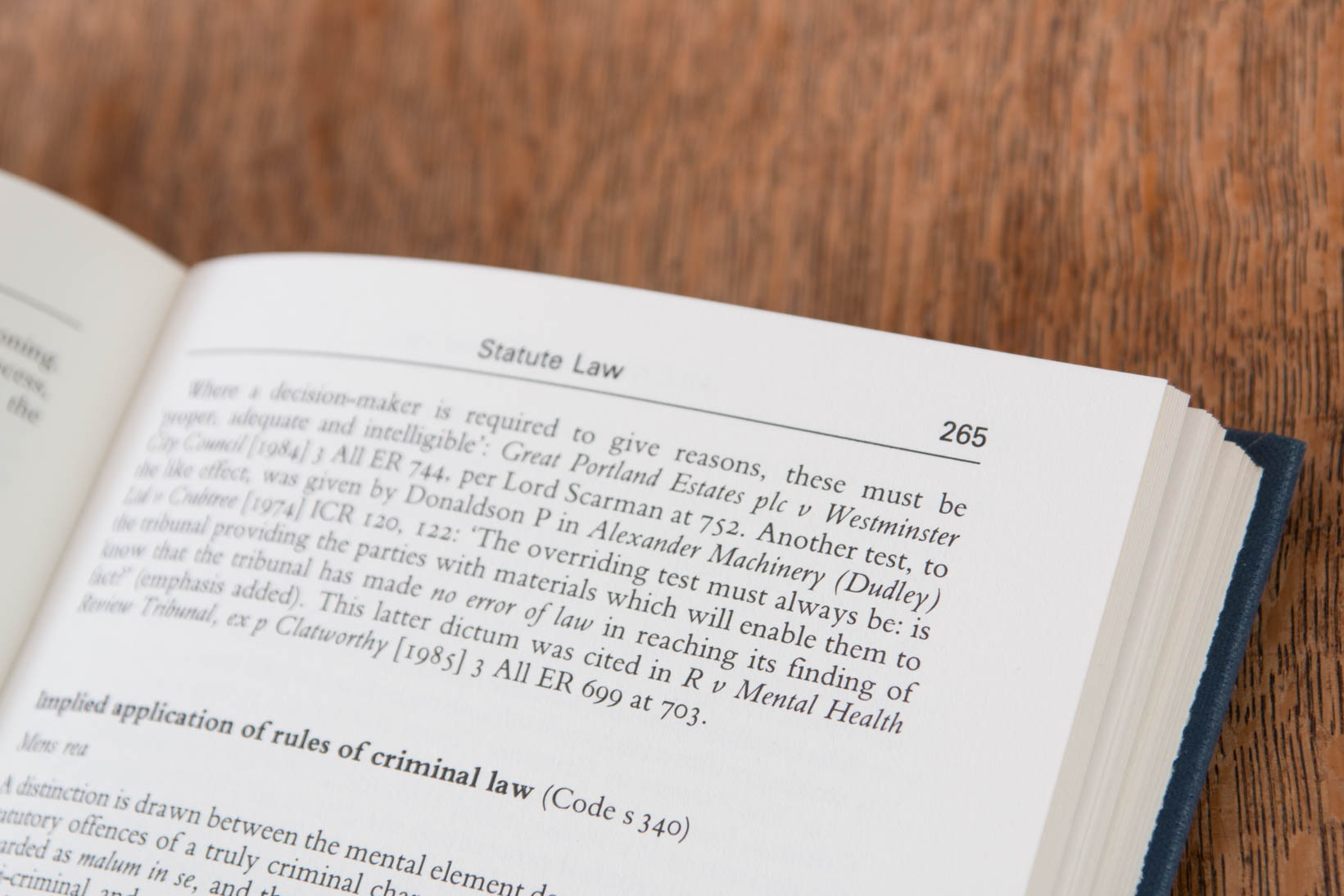Open law book